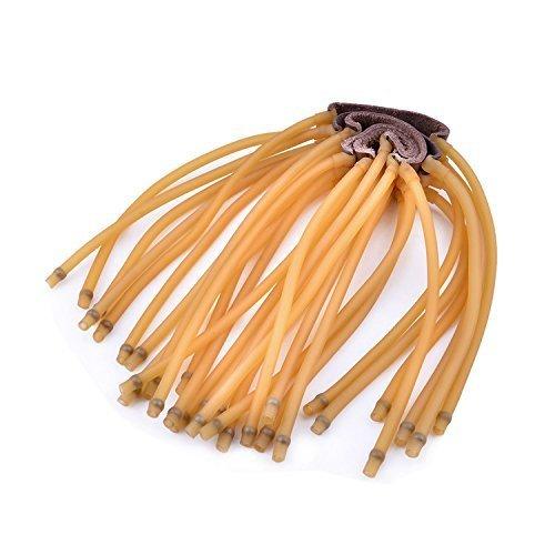 Ubesta Bandes élastiques à 6 cordes en caoutchouc pour lance-pierre,Noir/jaune