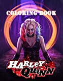 Harley Quinn Coloring Book: Harley Quinn Coloring Book for Adults, Activity Book, Great Starter Book with Fun, Easy, and Relaxing Coloring Pages - 110 Pages - 8.5'x 11'