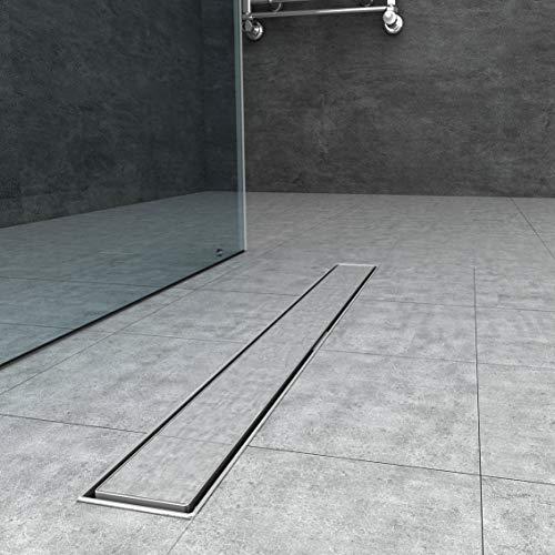 Canaleta de acero inoxidable para desagüe de ducha desagüe para fijación en...