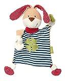sigikid 40504, fille et garçon, doudou lapin, coton organique, rouge/bleu/vert, 'Organic Collection'