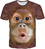(ピゾフ)Pizoff メンズ Tシャツ 半袖 猿柄 かわいい おもしろ 男女兼用 トップスY1730-K3-M