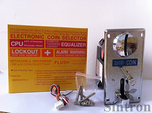[Sintron] 738c Comparable CPU Coin Mech Acceptor Coin Selector, for Vending Machine, Message Chair, Arcade Game Etc.