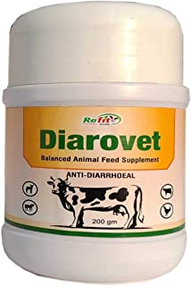 REFIT ANIMAL CARE - Anti Diarrhoeal Herbal Supplement for Cattle, Cows, Goat, Sheep, Horse and Livestock Animals (DIAROVET...