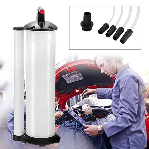 WUPYI2018 Ölabsaugpumpe mit 3 Schläuchen, 7L Absaugpumpe Flüssigkeitsabsaugpumpe Ölauffanggerät Bremsenentlüfter Handpumpe Umfüllpumpe