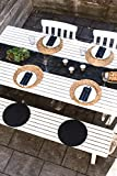 100% Mosel Vlies Tischläufer, in Schwarz (30 cm x 25 m), dekoratives Tischband aus Stoff, edle Tischdeko für Geburtstage & Hochzeiten, bunte Dekoration zu besonderen Anlässen - 8