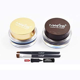 Mars 24h Gel Eyeliner-GE5 Black and Brown with Adbeni Kajal