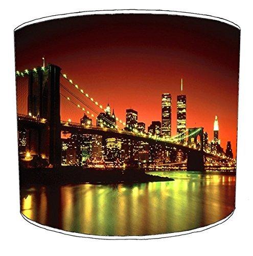 Premier Lighting Ltd 12 inch New York Sunrise et Sunset Print abat-jour10 pour Un plafonnier