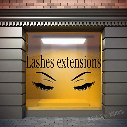 Lashes Extensions Vinyl Stickers Home R Decor Eyelashes Eyebrows Decal Make Up Ker Murals Salon Z