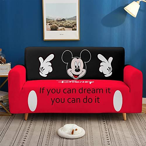 JinaiR Funda De Sofá EláStica Antideslizante Estilo Mickey, Funda MáGica Digital 3D MultifuncióN Todo En Uno para Todas Las Estaciones, Funda De Sofá De 1 2 3 4 Plazas (A,3-Seater)