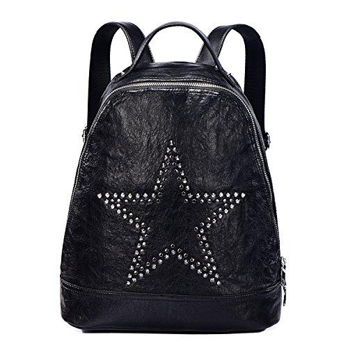 DonDon Zaino donna similpelle con borchie Stella nero