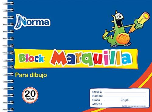 block marquilla de 20 hojas fabricante Norma