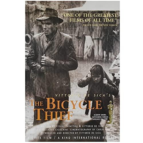 zkpzk I Ladri di Biciclette Vittorio De SICA Italia Film Italiano Vintage Retro Film Decorativo Poster da Parete su Tela Pittura Home Decor-40X60Cmx1 No Frame