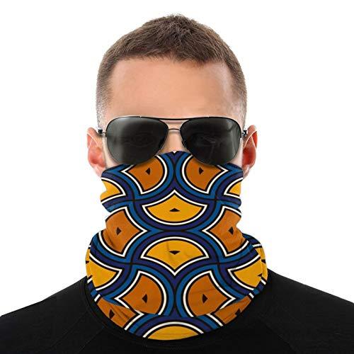 Azulejos de mosaico a escala de Marruecos repetidos Bufanda tubular para hombres y mujeres Mascarilla Turbante Pasamontañas Multifuncional Sombreros Cuello cálido 20x10 Pulgadas