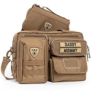 Tactical Baby Gear Deuce 2.0 Tactical Diaper Bag with Changing Mat  Coyote Brown
