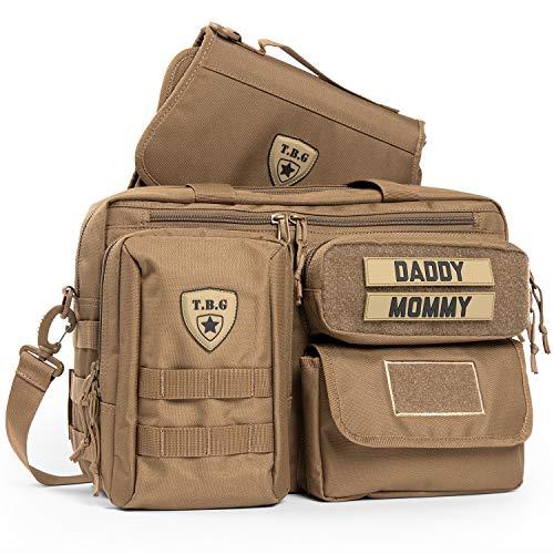 Tactical Baby Gear Deuce 2.0 Tactical Wickeltasche mit Wickelauflage (Coyote Braun)