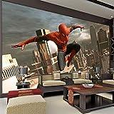 Mbwlkj Spiderman Fototapete Benutzerdefinierte 3D Wallpaper Boys Room Decor Wandkunst Kid Schlafzimmer Sofa Hintergrundwand-200cmx140cm
