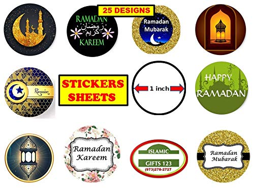 6 Stickers @ 9.5cm Parents Graphic Flavour Happy Ramadan Islam Personalised Children Teachers Custom Sticker Labels