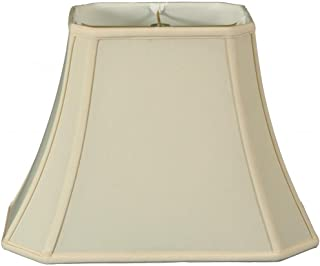 Royal Designs Rectangle Cut Corner Lamp Shade - Eggshell - (5 x 6.5) x (8 x 12) x 10