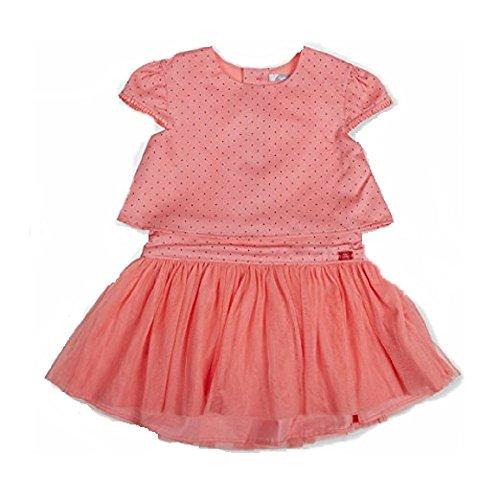 Tutto Piccolo - Robe - Patineuse - Manches Courtes - Bébé (Fille) 0 à 24 Mois Rose Corail 12 Mois