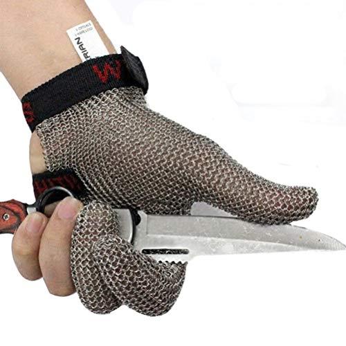 Schnittfeste Handschuhe-XHZ EIN einzelner schnittfester DREI-Finger-Edelstahlhandschuh, EIN Kleiner und wirtschaftlicher Handschuh. Familie muss. Grau, Größe: S, M (Size : Small)