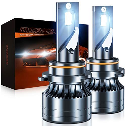 9005/HB3/H10 LED Headlights Bulbs, MIROZO Mini Size Pack of 2 LED Conversion Kit, High Beam/Fog Light bulbs,6500K Cold Light IP68 Waterproof LED bulbs, Halogen Replacement