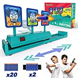 NBPOWER Moving Target for Nerf Toys, Running Tri-Strike Digital Electronic Targets for Shooting Practice Ideal Gift Toy for Kids Boys & Girls