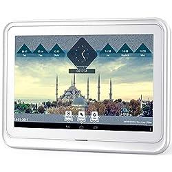 Ayine - 10.1 inch Tablet Azan/Adhan Muslim Prayer Clock, Full Color Digital Frame HD Display, for Home - Office - Desk, HD High Superior Sound Quality, HD Quality Quran Recitation, Digital Photo Frame