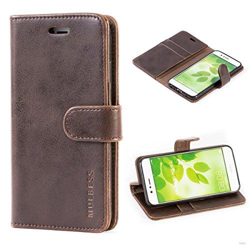 Handyhülle für Huawei Nova 2 Hülle, Leder Flip Case Schutzhülle für Huawei Nova 2 Tasche, Vintage Braun