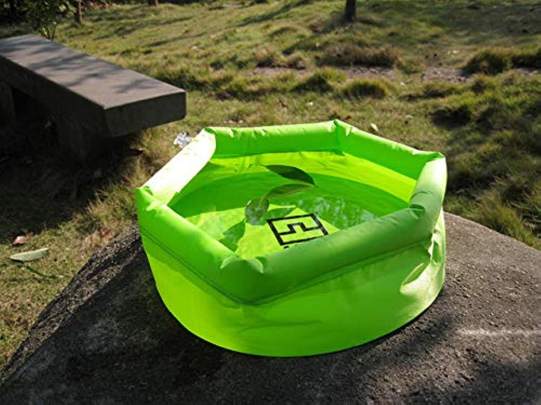 AOTU 8L Folding Basin Outdoor Travel Washbasin Wash Basin Bucket AT6622 Thick Foot Soaking Basin 383   Green