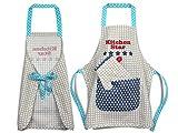 Emily´s Check Kochmütze + Küchenschürze + Topfhandschuh für Kinder - 3teiliges Set 1428.2002, Kitchen Star, Small [3-6 Jahre] - 8