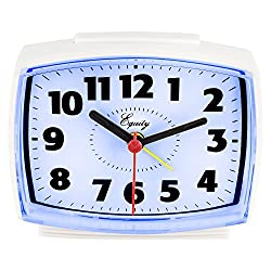 Equity by La Crosse 0 33100 Electric Alarm Clock with Lighted Dial, Pack of 1, White