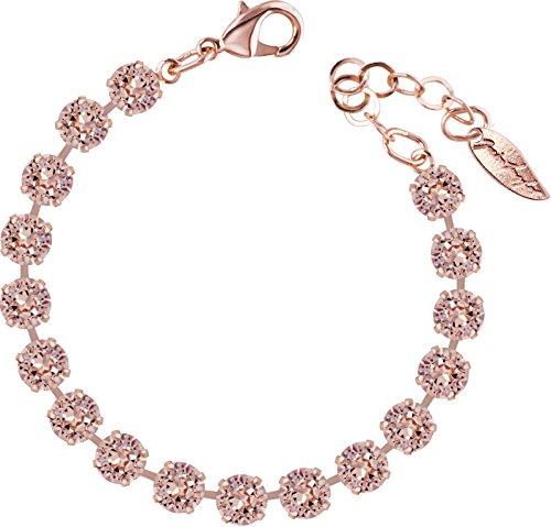 petra kupfer ROSI Armband small 6mm Chatons rosé vergoldet, Farbe:Vintage Rose