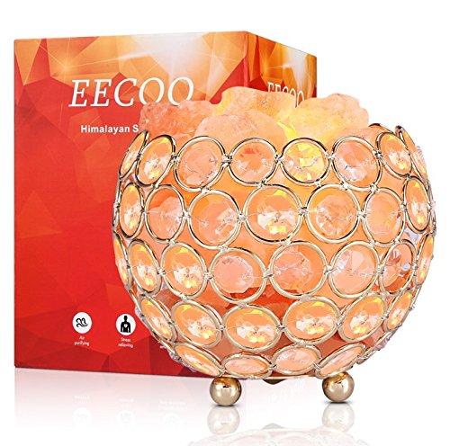 Lámpara de sal del Himalaya rosa regulable para el hogar, oficina, dormitorio, sauna, yoga, 2 bombillas de 15 W, rosa, naranja, Bowl Base, E14 220.00 voltios