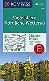 KOMPASS Wanderkarte Vogelsberg, Nördliche Wetterau: 2 Wanderkarten 1:50000 im Set inklusive Karte zur offline Verwendung in der KOMPASS-App. Fahrradfahren. (KOMPASS-Wanderkarten, Band 846)