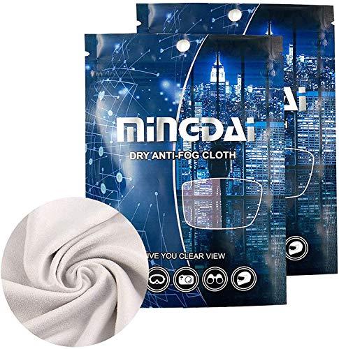 Antibeschlagtuch Tücher für Brillen, Nano Anti-Fog Tuch, Schützt vor Beschlagen Brillengläsern Anti-Beschlag-Reinigungstücher für Brillen, Wiederverwendbar Brillenputztuch für Objektive (Grau-2 PCS)