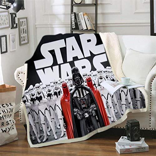 Preisvergleich Produktbild Rjbzd Winter 3D gedruckte Karikatur-Stern-Decke starker Plüsch-warme belastete Decken-Bettdecken-Spielraum-Bett-Sofa... @ Color_01_150X200Cm