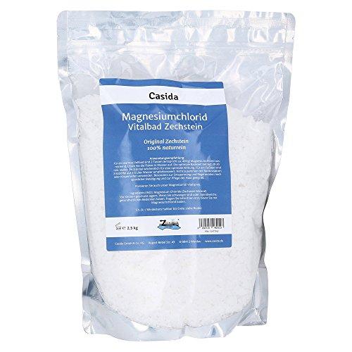 Casida - Bain au chlorure de magnésium - magnésium original Zechstein - la qualité des pharmacies - 2,5kg