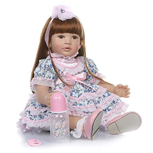 60cm 24 Pulgadas Priness Girl Realista Reborn Baby Dolls Realista Hecho a Mano Bebés para niños Juguetes