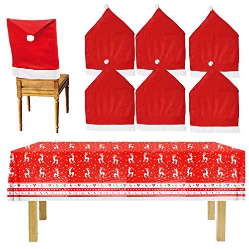 CHALA 6pcs Decoración de silla de Navidad
