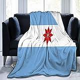 Uturuncos Flanelldecke mit Argentinien-Flagge, flauschig, bequem, warm, leicht, weich, Überwurf, Decken, Sofa, Couch, Schlafzimmer