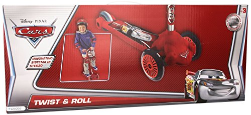 Mondo 28056 - Monopattino a 3 Ruote Twist And Roll di Cars Disney, con Borsa