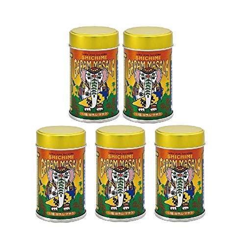 八幡屋礒五郎 七味ガラムマサラ 12g缶入り (5缶セット)