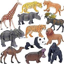 top rated Safari animal figures, toys, realistic giant zoo wildlife figures, big plastic Africans … 2021