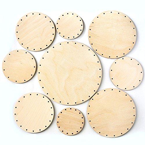Zita's Creative Korbboden Set rund, groß - für Peddigrohr 3mm - Flechten, Korbflechten, Schilf Set, Peddigrohr, Flechtmaterial, Flechtset, Rattan