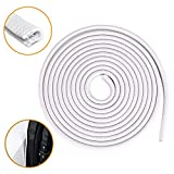 Car Door Edge Guards 16Ft(5M) Universal Fit U Shape Edge Trim Rubber Seal Car Door Edge Protector, Car Door Protector Door Edge Protector Strip Fit for Most Cars (white)