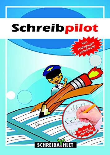 Schreiblernheft für ABC-Schützen mit vorgeprägten Buchstaben (Deutsch) - Schreiben und Buchstaben lernen - Schreibschrift üben - Schreibpilot