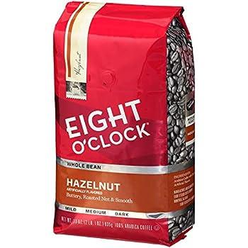 Eight O Clock Whole Bean Coffee Hazelnut 33 Ounce  Pack of 1