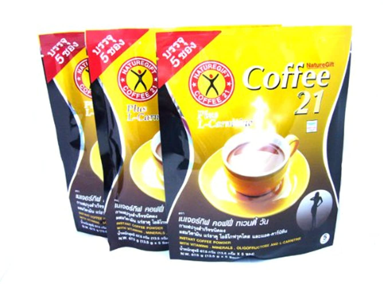 夫婦エステート改革3x Naturegift Instant Coffee Mix 21 Plus L-carnitine Slimming Weight Loss Diet Made in Thailand by alanroger