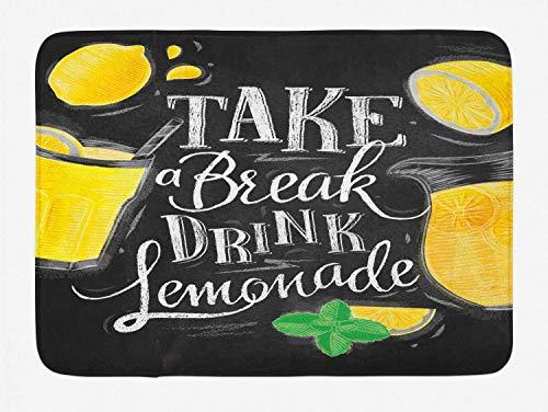 Aliyz Trinken Limonade im rustikalen Text der rutschfesten Badmattentürmatten aus Flanellmaterial die die Raumdekoration Hotelbadezimmers Wohnzimmers Schlafzimmers und der geeignet sind