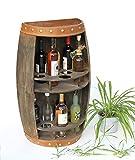DanDiBo Botellero de madera con forma de barril de vino, 83 cm, 9001-R Bar
